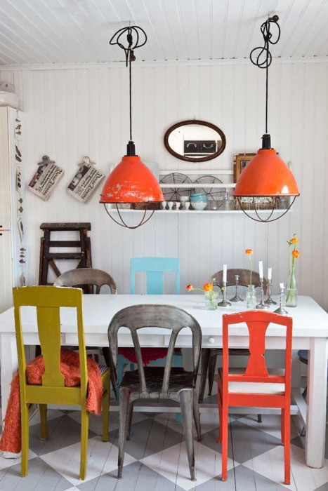 mismatched dining chairs | Sara Berrenson