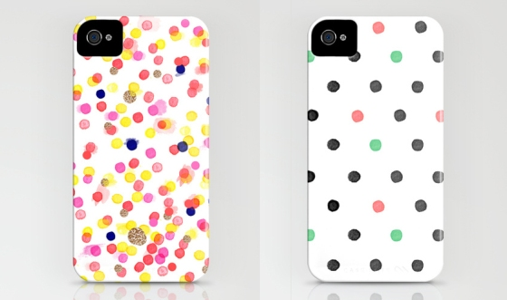 Watercolor polka dot phone cases | Sara Berrenson - Available on Society 6