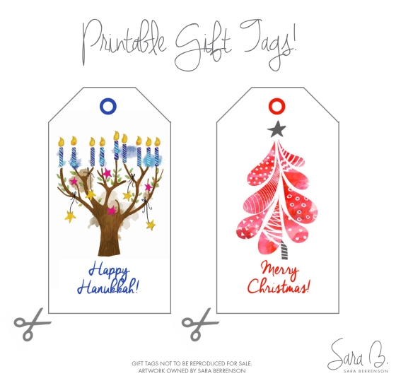 Free Holiday Printables | by Sara Berrenson